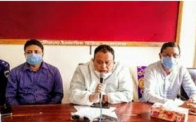 মৌলভীবাজারে ব্যরিষ্টার সুমনের বিরুদ্ধে মামলার প্রতিবাদে মানববন্ধন